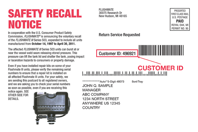 Flushmate Iii Safety Recall Expanded Lunt Marymor
